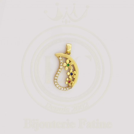 Chaîne Pendentif trés jolie en or 18 carats