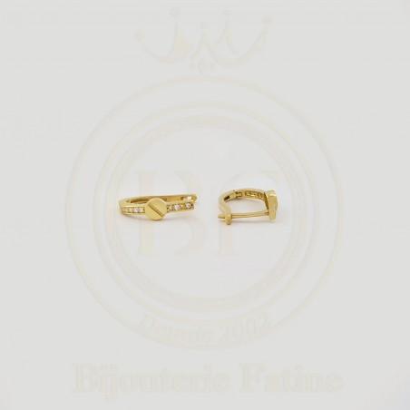 Boucles d'Oreilles clou en or 18 carats