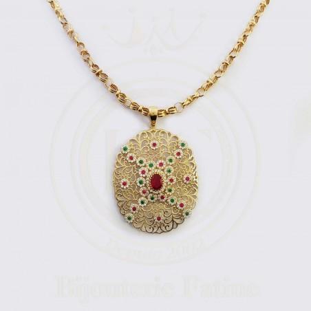 Chaîne Pendentif  originale en or 18 carats