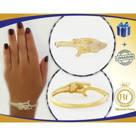 Bracelet jaguar manifique en or 18 carats