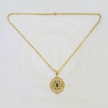 Chaîne Pendentif très agréable en or 18 carats