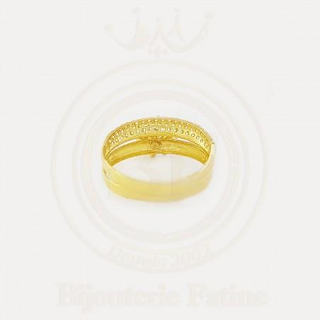 Alliance solitaire 267 avec un design très attirant en Or 18 carats