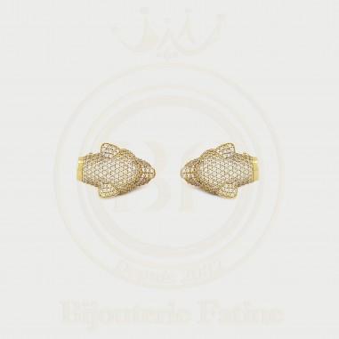 Boucles d'Oreilles Jaguar en or 18 carats