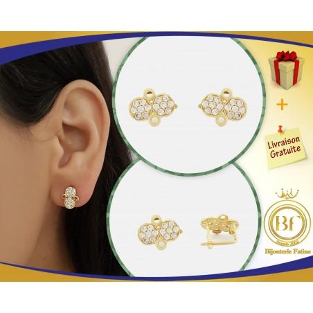 Boucles d'oreilles d'enfants 161 en Or 18 carats