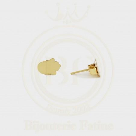 Boucles d'oreilles d'enfants khmissa en Or 18 carats