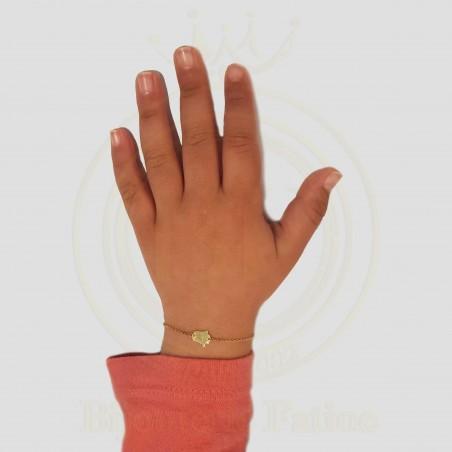 Gourmette Enfants  khmissa en or 18 carats