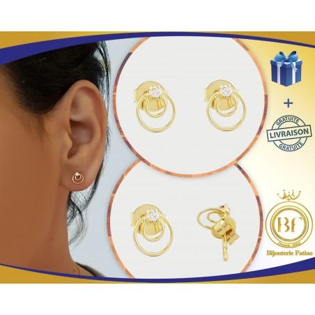 Boucles d'Oreilles Enfants en or 18 carats