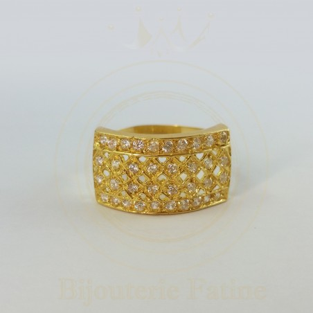 Bague forme carré en Or 18 carats