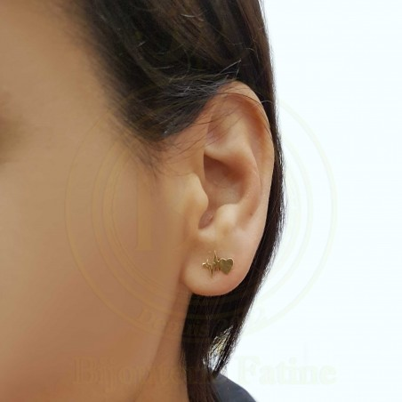 Boucles d'oreilles d'enfants trés chic en Or 18 carats