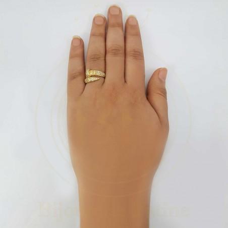Bague 160 sous forme de clou très attirante en or 18 carats