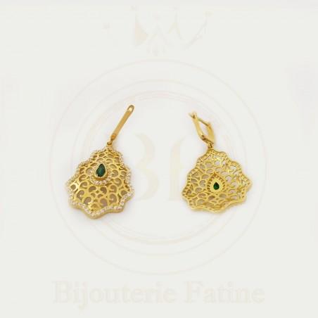 Boucles d'Oreilles 400 fabuleusement jolies en or 18 carats