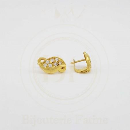 Boucles d'Oreilles 298 avec un design très agréable en or 18 carats