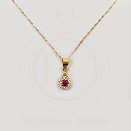 Chaîne Pendentif très élégante en or 18 carats