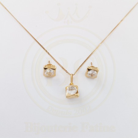 Ensemble adorable et pratique en or 18 carats