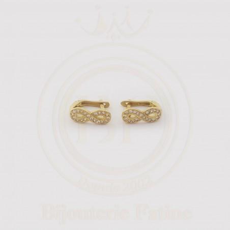 Boucles d'Oreilles L'infini Chic en or 18 carats